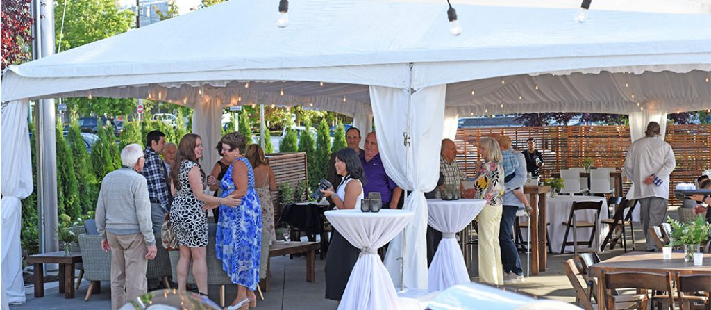 Outdoor Tented Reception At Dukes Dockside