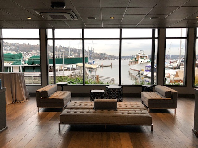 Dockside Soft Seating with Lake Union Views