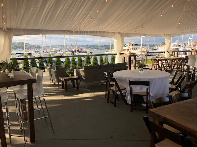 Dockside Tented Dining Area with Lake Union View