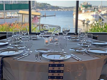 Dockside Dining Table Lake View