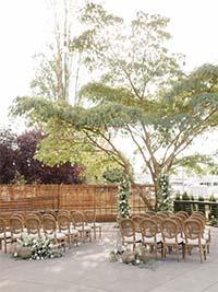 Dockside Outdoor Wedding Setting