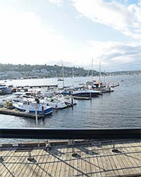 Dockside View Lake Union and Boats