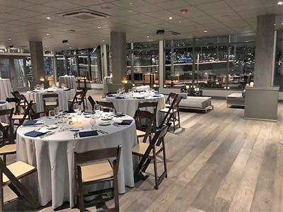 Dockside Intimate Team Dinner Table Layout