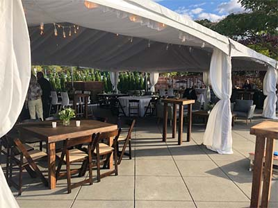 Dockside Outdoor Patio Dining with Cover