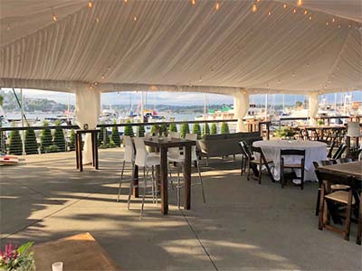 Dockside Outdoor Patio Parties with Cover